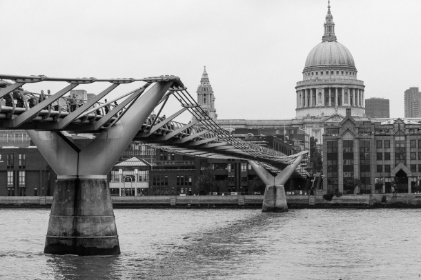 Millennium Bridge + St Paul's Cathedral