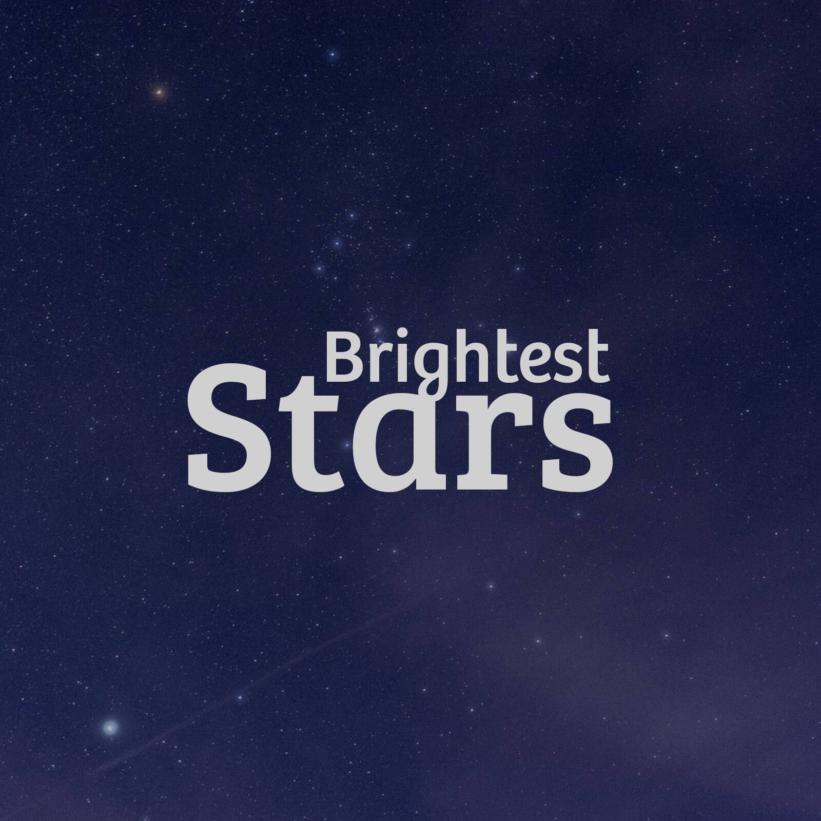 Brightest Stars Playlist Cover