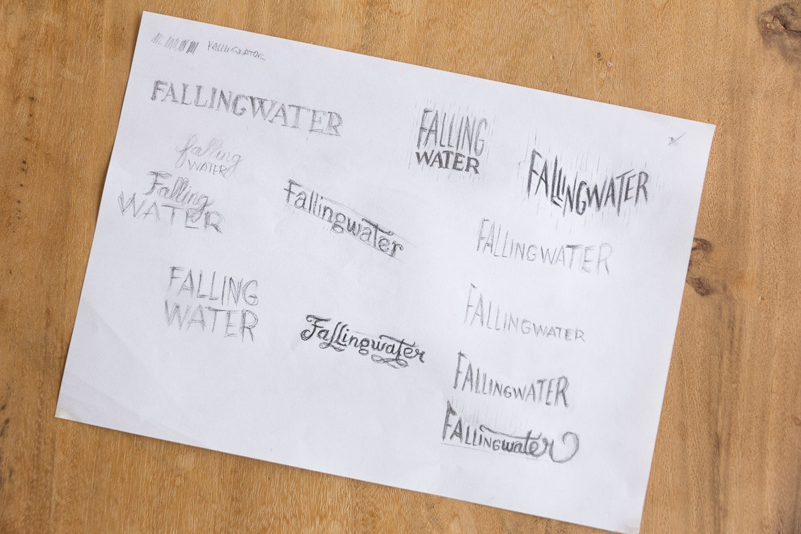 Fallingwater thumbnail sketches
