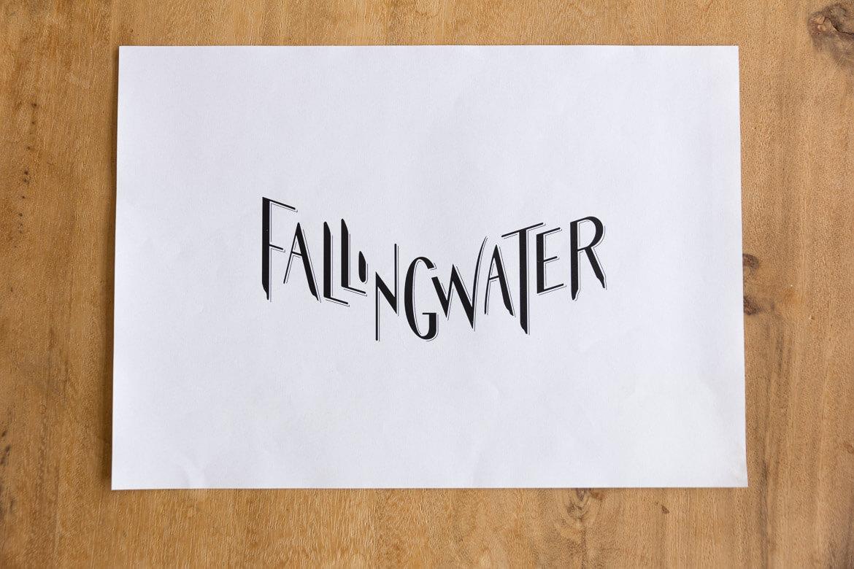 Fallingwater vector print